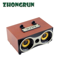 Quality Bluetooth desktop small speakers XM - 6 classic wooden retro radio portable bluetooth wooden subwoofer for sale