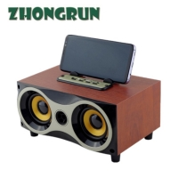 Buy cheap Bluetooth desktop small speakers XM - 6 classic wooden retro radio portable from wholesalers