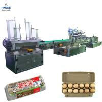 Quality Farm chicken eggs labeling machine with eggs expiry date printing machine ,egg box labeling machine with egg tray for sale