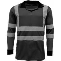 Buy cheap Reflective Strips Mens Hi Viz T Shirts Workwear , Dry Fit 2 Tone Guys Polo from wholesalers