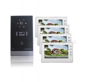 Quality 7 inch color monitor 4 wires video doorbell for villa Smart Villa doorbell  intercom system for sale