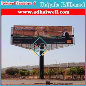 Three Sided Hot-DIP Galvanized Structure Advertising Billboard