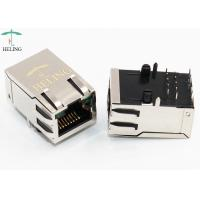 Quality Shielded 1000 Base - T Magnetic RJ45 Jack Tab Up With LED And EMI Finger for sale