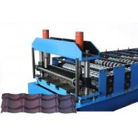 China CE Glazed Tile Sheet Metal Roll Forming Machines , Roofing Sheet Making Machine on sale