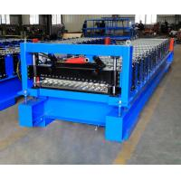 Quality Corrugated Steel Panel Roll Forming Machine , Steel Frame Roll Former 12-18m/Min for sale