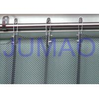 Quality Fireproof Silver Metal Mesh Curtains Metal Coil Drapery For Exhibition Blinds for sale