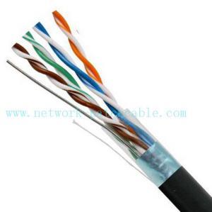 Black 4P Exterior Grade UTP Outdoor Cat5e Cable 100MHz Fire Resistant