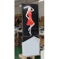 Quality 55 Inch LCD Screen Video Wall Digital Signage UHD 3g Two Sides Floor Stand for sale