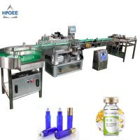 Quality Cosmetics PLC Automatic Sticker Labeling Machine For Alcohol Whisky Bottle Wrap for sale