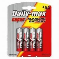 Quality LR6 AA Super Alkaline Batteries with Aluminum Jacket for sale
