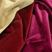 Quality 100% cotton velvet fabric for garment for sale