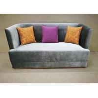 Best Dark Grey Fabric Hotel Lobby Sofa / Fashion Sofa Three Upholstered Seat wholesale