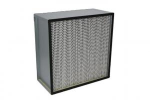 Quality Fiberglass H13 Deep Pleat Cleanroom HEPA Filters / HEPA Air Filter With Separator for sale