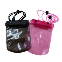Best 50C transparent waterproof cell phone bag with adjust nylon rope for swimming wholesale