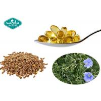 Quality Flaxseed Oil Essential Omega 3 1000mg Softgels Supports Cardiovascular System for sale