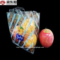 Quality PVC Plastic Food Packaging Bags Stand Up Pouch Heat Sealing Handle For Shopping for sale