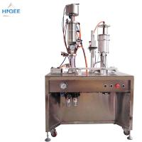 Quality 35 - 65 Mm Bottle Height Bottled Water Filling And Capping Machine Inhaler Aerosol Filling Machine for sale
