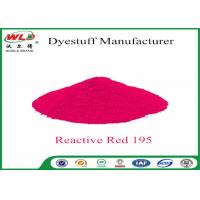 Quality Pure Red Clothes Dye C I Red 195 Reactive Red Wbe Powder Dye For Clothes for sale