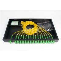 Buy cheap SC/APC 1*16 PLC Optical Fiber Splitter Rack Mount Box Low Excess Loss from wholesalers