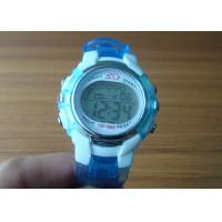 Quality Fashion light blue glittering jelly silicone watches digital sports watch with EL lamp for sale