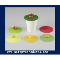 Best Clear Round Promotional Silicone or Soft PVC Coasters / Cup Coaster with Custom Logo wholesale