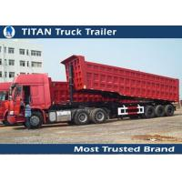 China Carbon steel Hydraulic Dump truck trailer , Sand , Stone , Coal dump end trailer on sale