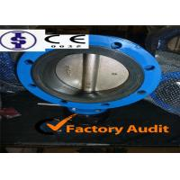 Quality Carbon Steel Gear Operated Grooved End Butterfly Valve Standard PN6 / PN10 for sale
