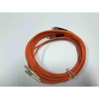 China FC / UPC  LC / UPC Multimode Duplex Fiber Optic Cable 3.0mm For QSFP Devices on sale