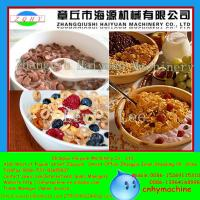 Quality Shanghai CE Certificate Automatic Roasted Breakfast Cereal Corn Flakes Extrusion Machine for sale
