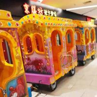 Quality Elephant Lovely Amusement Fun Train Rides / Kiddie Train Ride 14 Riders for sale