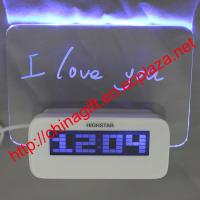 Quality LED Luminous Message Board Digital Alarm Clock With Calendar 4 USB Hub for sale