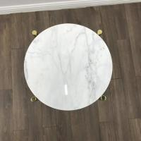Quality White Marble Stone Countertops Modern Center Coffee Table Tops For Living Room for sale
