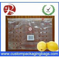 Quality 100 % PE Ziplock Fruit Packaging Bags With Holes For Lemon for sale