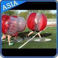 China 100% PVC Inflatable Bumper Ball ,  Half Red Bubble Soccer , Loopy Balls , Soccer Bubble Balls on sale