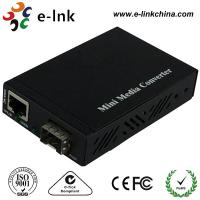 Quality Mini 10 / 100 / 1000M SFP Fiber Ethernet Media Converter Not Included the SFP Modules with External Power Supply for sale