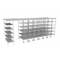 """Buy cheap Space Saving Top Track Mobile Wire Shelving With Plastic Storage Containers 86"""" from wholesalers"""