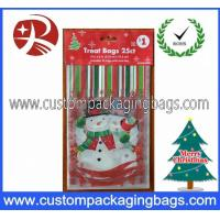 Quality Custom Printed Plastic Treat Bags HDPE 20 - 100micron For Christmas for sale