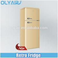 Quality BCD-210 retro fridge, double door refrigerator, colorful refrigerator for sale