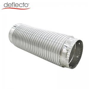 Quality Semi Rigid Flexible Aluminum Duct / Aluminum AC Duct With Galvanized Steel Collar for sale