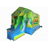 China Small jungle inflatable jump house combo mini inflatable bounce with slide for kids under 7 years on sale