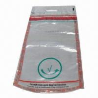 Quality Clear Security Tamper-evident Bag with Tamper-evident Tape, Used in Airport for sale