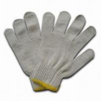 Quality Safety Gloves, Made of 100% Cotton or Polycot Blended Material, Size of 9 Inches, Natural Color for sale