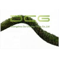 Quality W Shape Curl Synthetic Fake Grass Rug / Commercial Artificial Turf High Density for sale