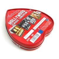 Quality Heart shape custom tin boxes with insert inside for sale