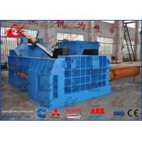 22kW Scrap Metal Recycling Equipment , 160ton Drum Bucket Press Baler Machine
