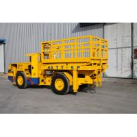 Quality Underground Mining Vehicles +/-42° Turning angle With scissor lifting platform for sale