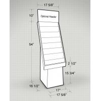 Best Greeting Business Cards Floor Cardboard Display Stand wholesale