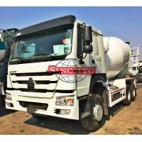 Quality 6x4 Concrete Transport Truck HW76 With A / C Cabin 10m3 Drum Volume for sale