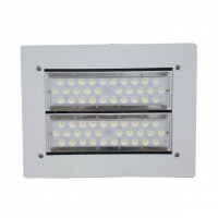 Quality IP66 Gas Station 16000lm 120W LED Canopy Lights Aluminium Modular for sale