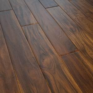 Quality Hand Scraped Acacia Walnut Hardwood Flooring for sale